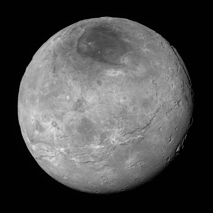 New Horizons also sent back an image of Charon, Pluto's largest moon.