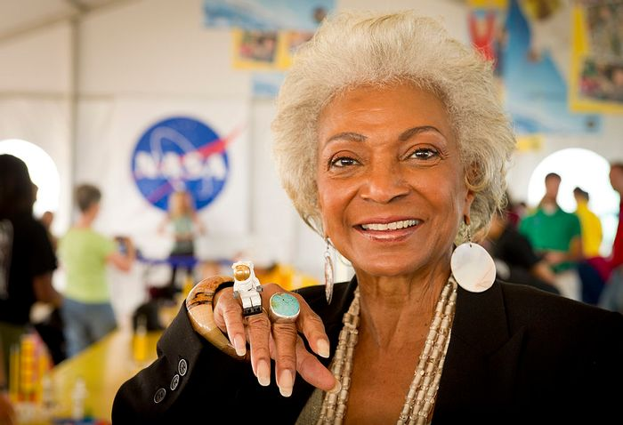 Nichelle Nichols, better known as Lt. Uhura is set to fly for NASA