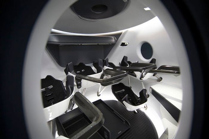 One view of the Crew Dragon's new interior