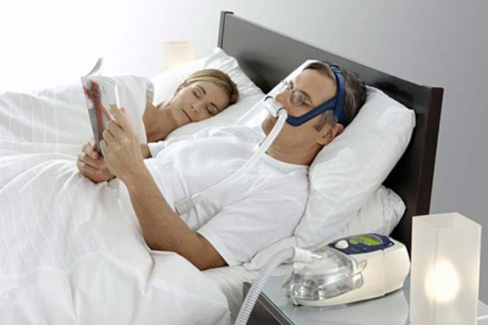 The CPAP machine is given to patients with sleep apnea to help open up their airwaves.