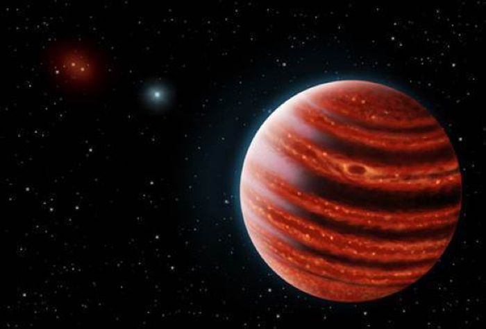 An artist's rendition of the newly-discovered Jupiter-like planet.