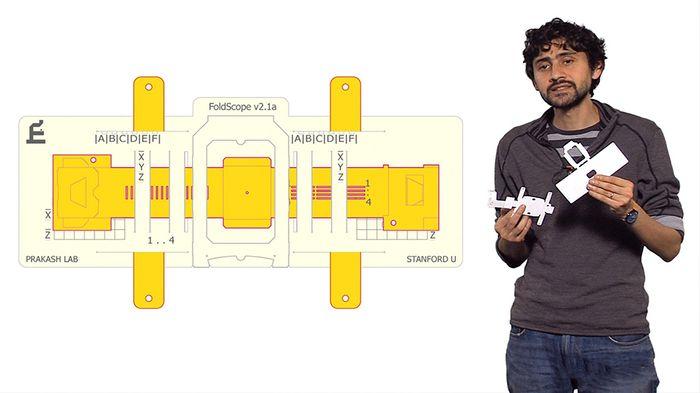 Manu Prakash, PhD, the designer of the Foldscope.