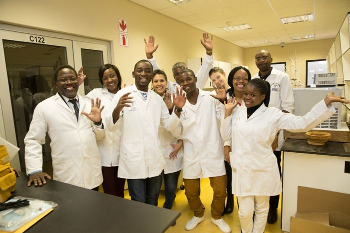 Seeding Labs partners: Students at the University of Namibia in Windhoek, Nambia, credit: Seeding Labs