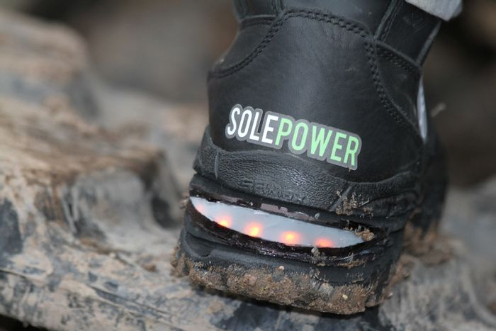 Smart Boot with light, credit: SolePower public Facebook photo (http://bit.ly/2h6vg2O)