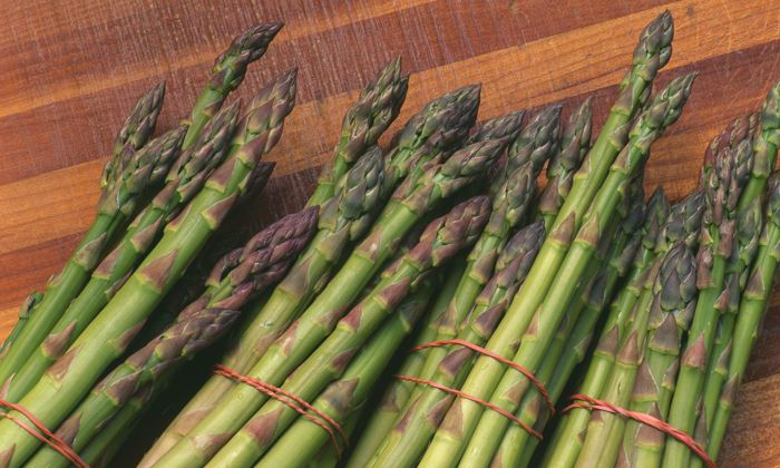 Asparagine is a non-essential amino acid which can be produced by our cells but also present in large amount in certain foods such as asparagus, meat, and dairy. Photograph: Alamy
