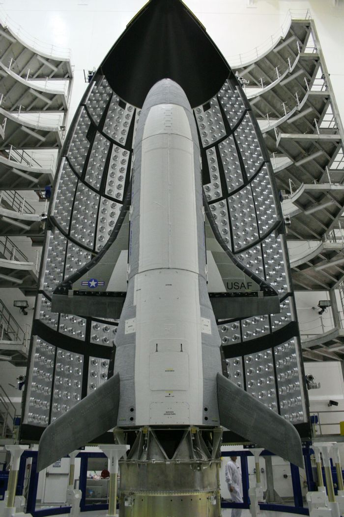 The USAF's X-37B space plane has exceeded 600 days in space while orbiting the Earth, and is close to setting a new record for the missions.