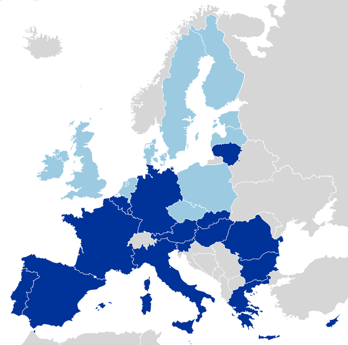 Map of EU, credit: public domain