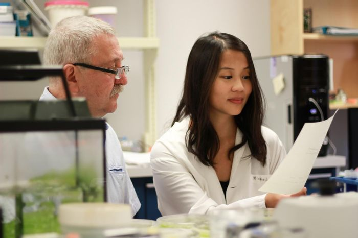 Marek Michalak, a professor in the University of Alberta's Department of Biochemistry and graduate student Wen-An Wang were part of the team that discovered a direct link between calcium and cholesterol. Credit: Melissa Fabrizio
