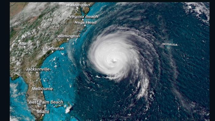 Hurricane Florence's expected path. Photo: CNN