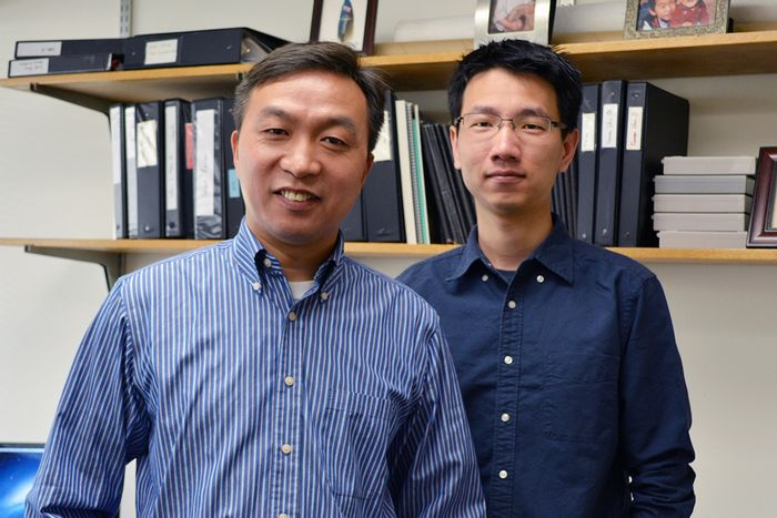 Associate Professor Chanchun Xiao (left) and Research Associate Zhe Huang of The Scripps Research Institute were among the key authors of the new study.