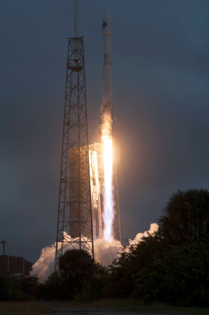 The International Space Station's supply rocket blasted off successfully on December.