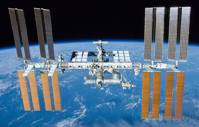 A view of the International Space Station.