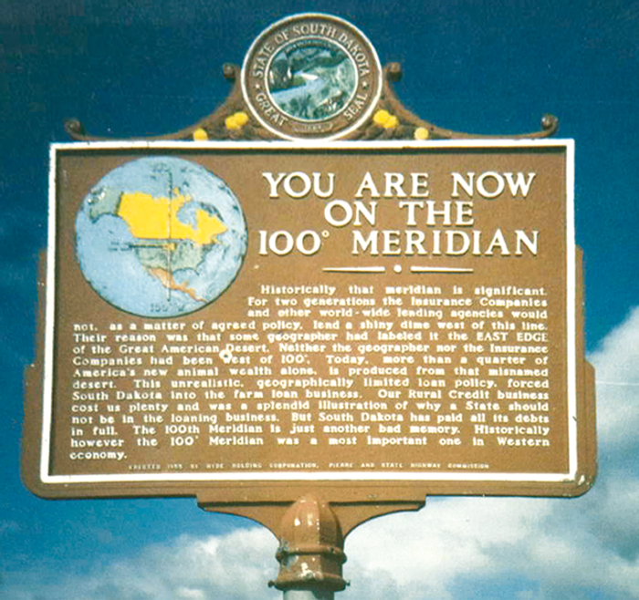 At some points along the meridian there are signs explaining its history. Photo: EARTH Magazine