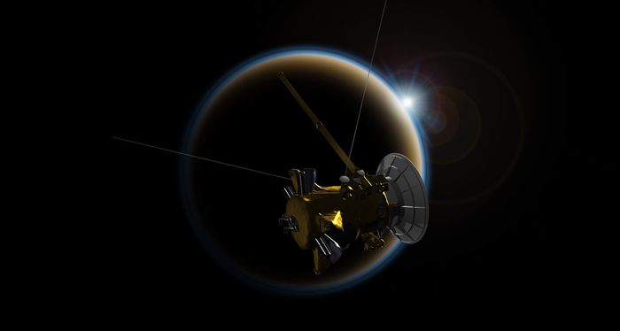 Cassini made one last Titan flyby before it dives into Saturn's atmosphere on September 15th.