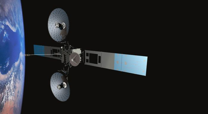An artist's impression of the TDRS-M third-generation communications satellite.