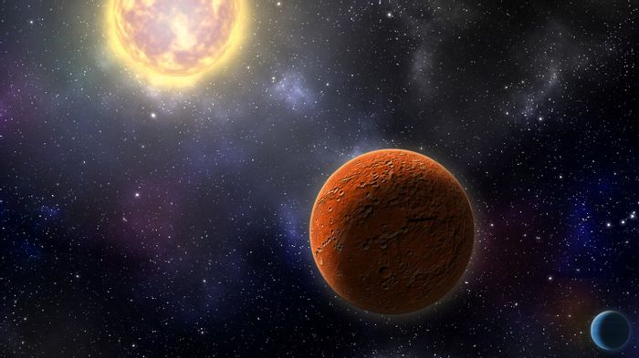 An artist's impression of the Earth-sized world discovered by TESS.