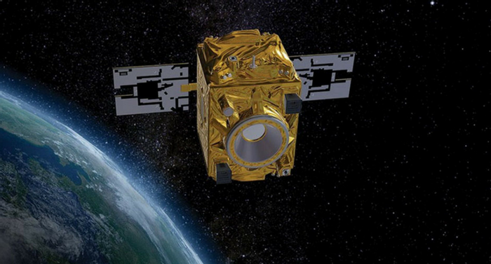 The Micro-Satellite à traînée Compensée pour l'Observation du Principe d'Equivalence (MICROSCOPE) is a mini-satellite operated by French space agency CNES to test the universality of free fall. Credit: CNES/VIRTUAL-IT 2017