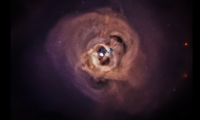 X-ray image of the Perseus galaxy cluster, approximately 240 million light-years away from Earth. Credit: NASA