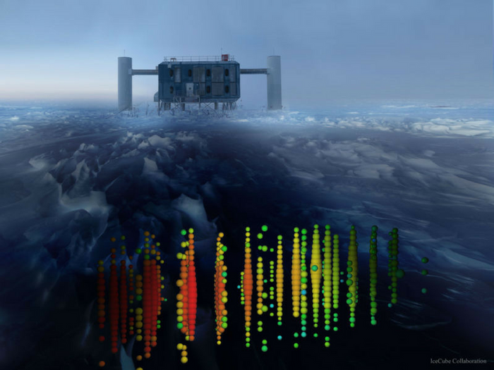 The IceCube Neutrino Observatory. Credit: IceCube Collaboration