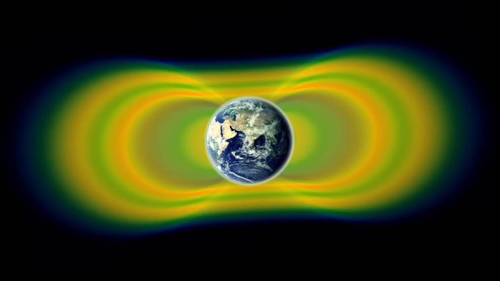 The Van Allen radiation belts encircle Earth, protecting the planet from harmful radiation.