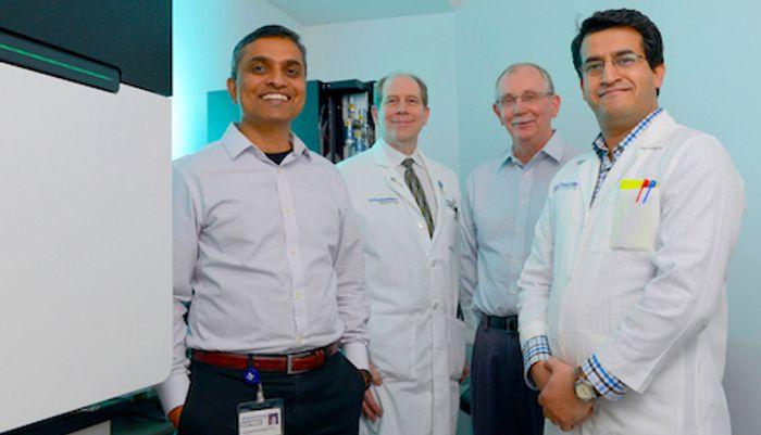 UT Southwestern researchers (l-r): Dr. Chandrashekhar Pasare, Dr. David Karp, Dr. Edward Wakeland, and Dr. Prithvi Raj.