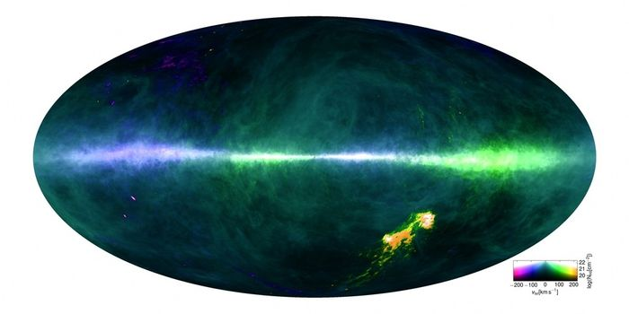 A detailed map of the traces of hydrogen in the Milky Way galaxy.