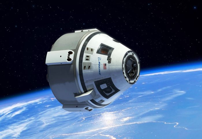 An artist's impression of the Boeing Starliner spacecraft in space after launch.