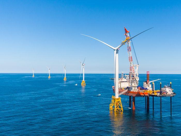 Block Island's wind farm is already operating. Photo: Clean Technica