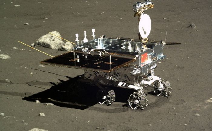 A Chinese rover just like this one will visit the Moon with a sealed container full of insect eggs and plant seeds.