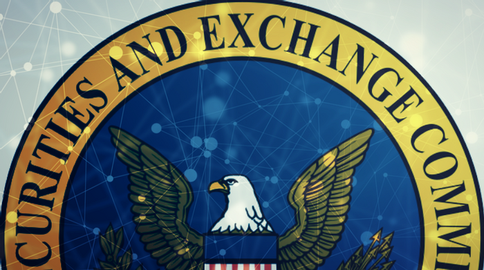 collage, blockchain illustration with SEC logo, credit: public domain, Mark Astarita on LinkedIn