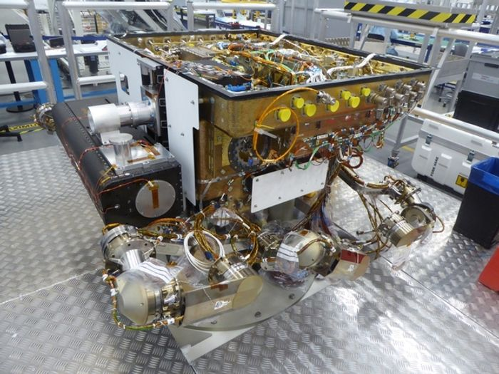 The ExoMars rover STM undergoes critical stress-testing.