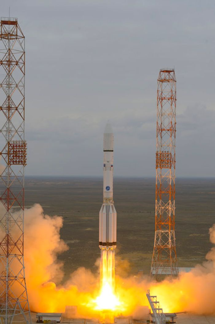 ExoMars mission blasting off from Kazakhstan.