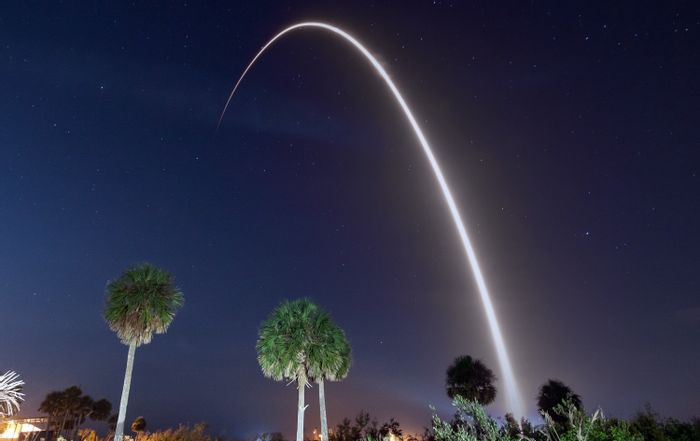 SpaceX's Falcon 9 launch was accompanied by photographers who captured the traditional 'launch arc.'