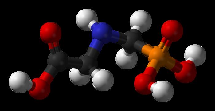 A glyphosate molecule