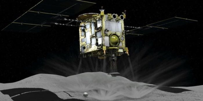 An artist's impression of the Hayabusa2 spacecraft.