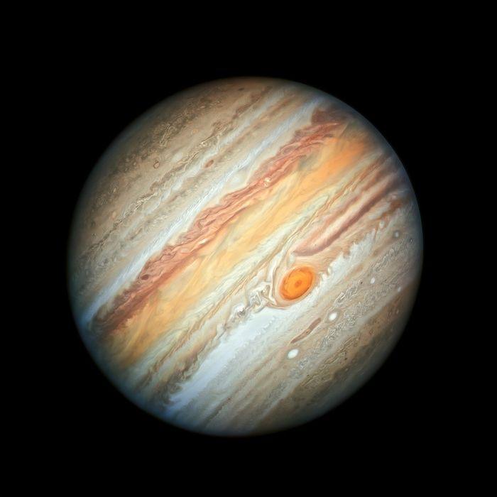 Hubble's latest image of Jupiter, captured June 27.