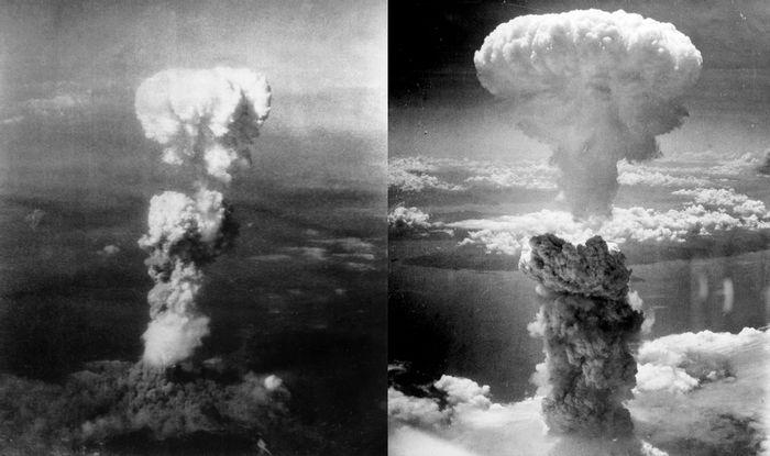 Left: Hiroshima, Right: Nagasaki