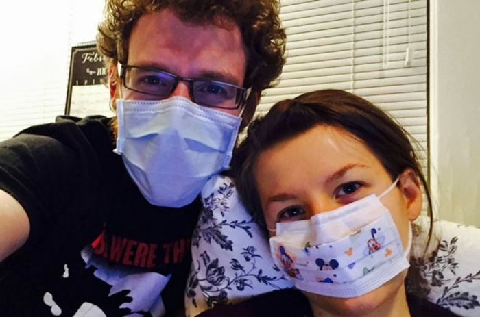 Scott and Johanna before her allergies worsened | Image: Scott Watkins
