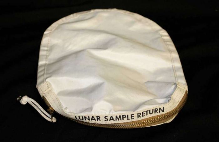 The Moon dust bag that went up for auction in New York and sold for $1.8M.