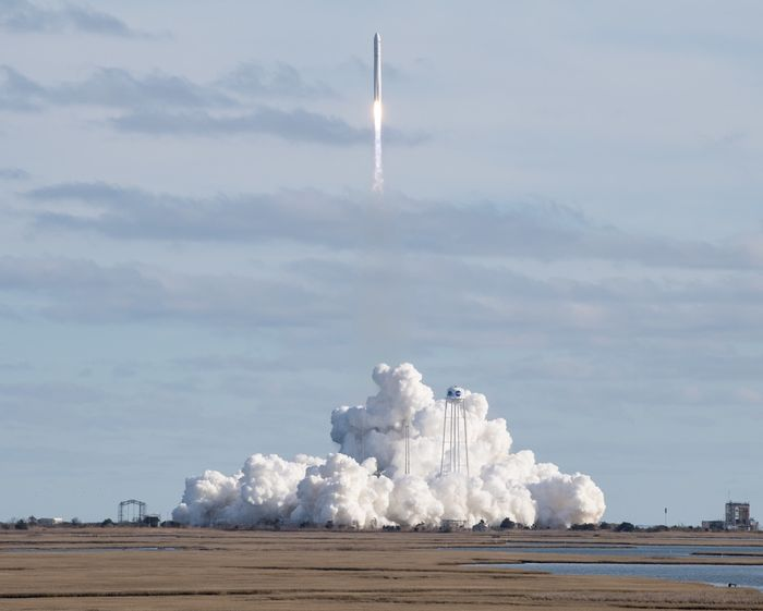 The Cygnus resupply spacecraft launches atop an Antares 230+ rocket on Saturday.