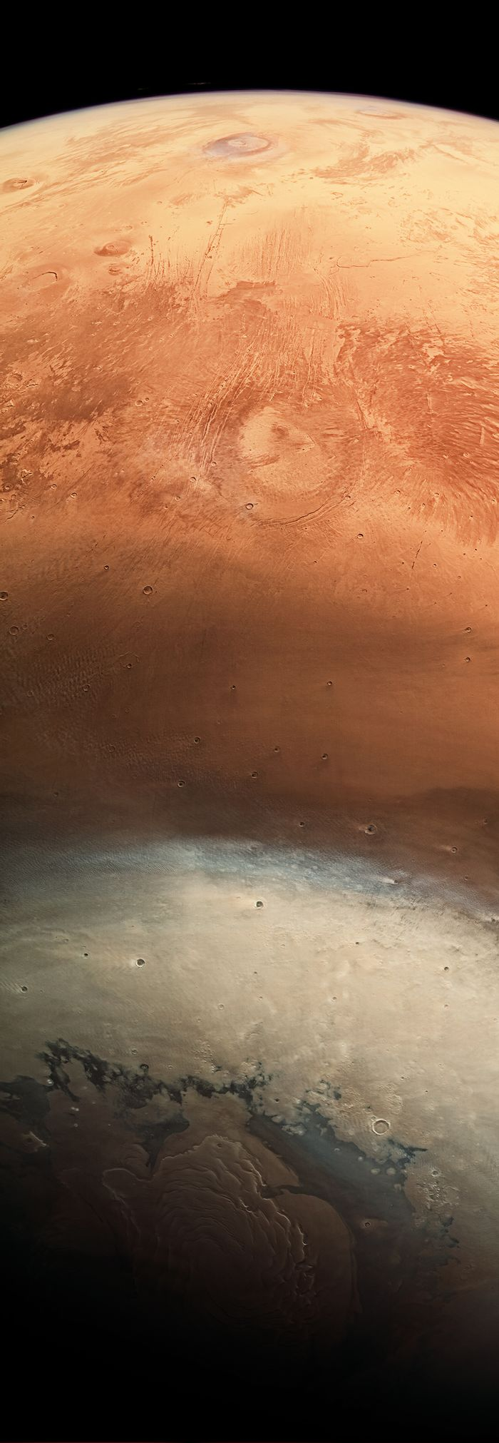 A detailed wide-angle image of Mars snapped by the ESA's Mars Express spacecraft.