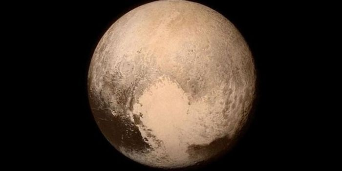 Pluto as photographed by NASA and SwRI's New Horizons spacecraft in 2015.