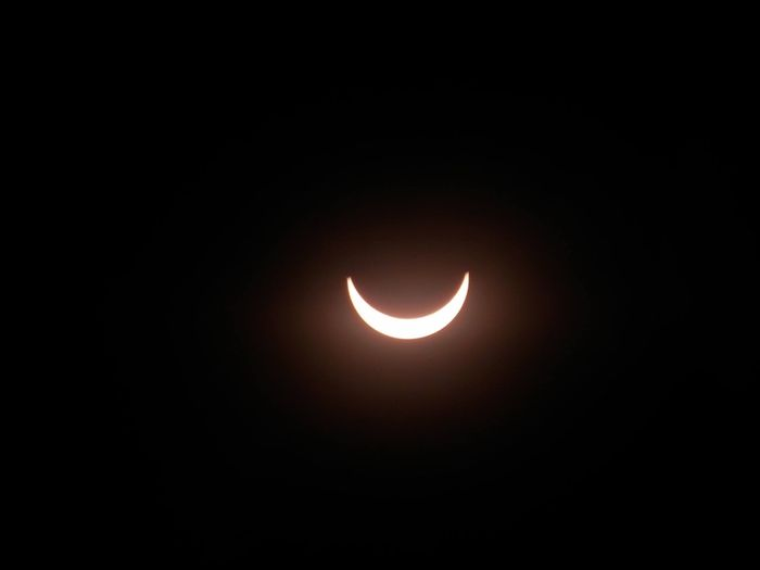 An image of the 2017 Great American Solar Eclipse as the Sun was 85% covered by the Moon.