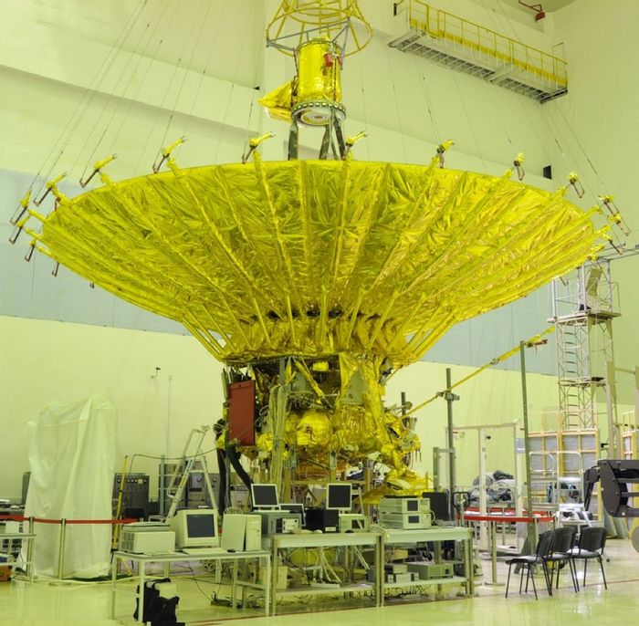 Spektr-R in the lab before it was launched in 2011.