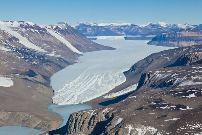 Taylor Glacier in Antarctica. Photo: Landscapes and Scenery