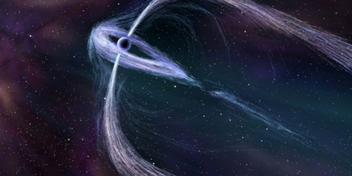 An artist's rendition of Geminga, a distant pulsar that's active in terms of gamma ray activity.