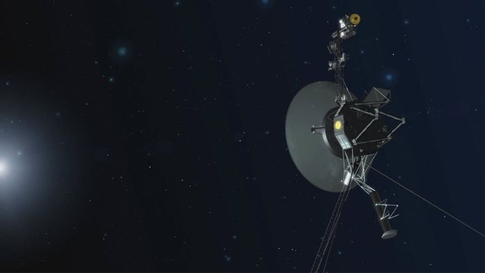 An artist's rendition of the Voyager 1 spacecraft in interstellar space.
