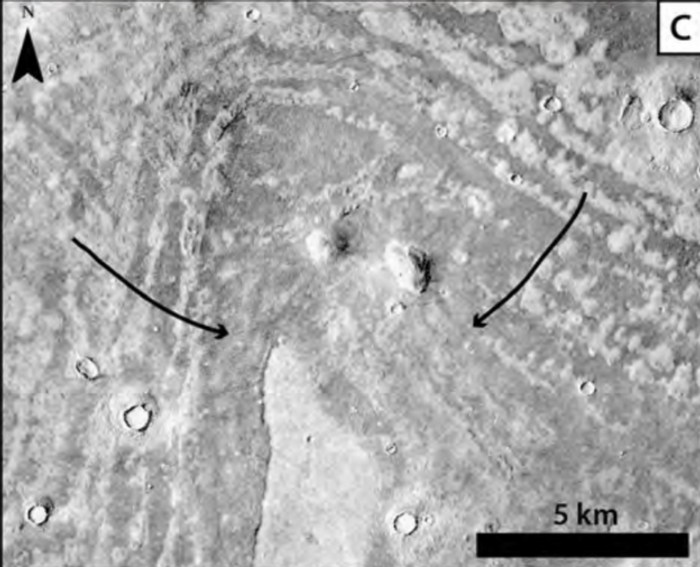 Deposition from historic tsunamis took place after impact craters spewed sediment into the ocean, causing it to be carried uphill.