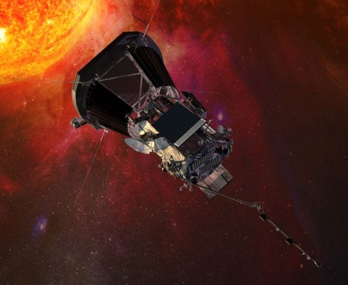 An artist's impression of the Parker Solar Probe as it studies the Sun.