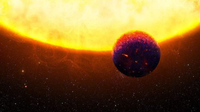 An artist's impression of HD219134 b and its host star.